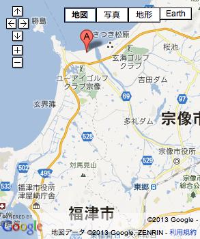 サニックス玄海グランドの地図