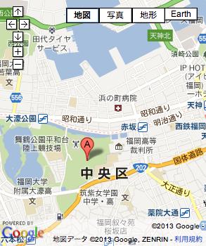 舞鶴公園球場の地図